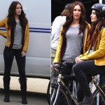 Megan Fox Films With Gorgeous Body Double On Teenage Mutant Ninja Turtles Set