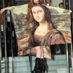 Lady Gaga Steps Out In A Mona Lisa Bed Sheet Dress