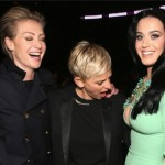 Ellen DeGeneres Stares At Katy Perry's Cleavage During Grammys